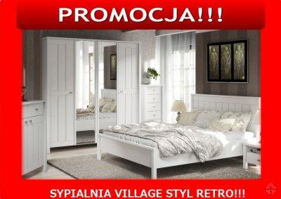 Village Biała Sypialnia Styl Retro