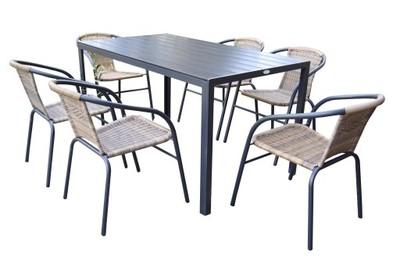 Zestaw Mebli Ogrodowych Duzy Stol 6 Krzesel Ratan 6819161437