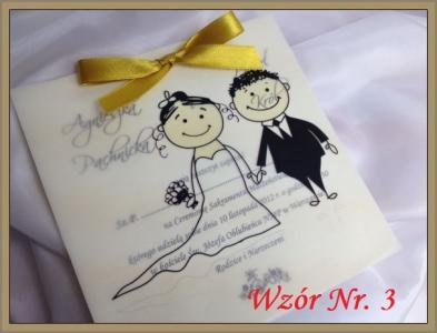 Zaproszenia ślubne Kalka Wedding 150 Sztuk 5803028930