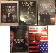 HOUSE OF CARDS - KOMPLET - SEZONY 1,2,3,4,5 [DVD]