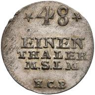 043. Mecklenburg-Strelitz 1/48 talara 1757 HCB