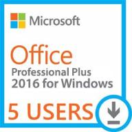Microsoft Office 2016 Professional Plus 5 UŻYTKOWN