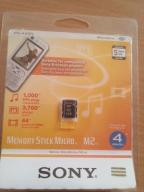 KARTA PAMIĘCI SONY MEMORY STICK MICRO 4GB