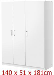 Ikea Dombas Szafa Szafy 3 Drzwiowa 140x51x181cm Fv 5978191381