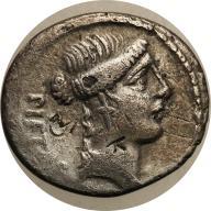 Rzym - Republika AR-denar Brutus Ablinus 48 pne