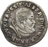 Albert Hohenzollern 1525-68,trojak 1535,Królewiec