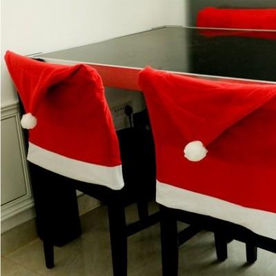 Pokrowiec Na Krzesło święta Czapka Mikołaja 4 Szt