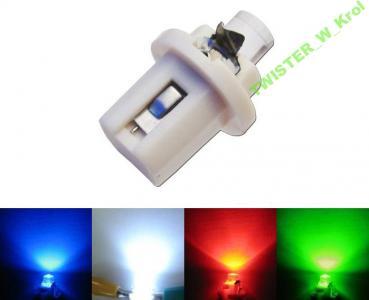 Zegary dioda LED B8.5D T5 R5 12V wszystkie kolor