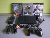 Konsola Playstation 2 + 3 gry - Ps 2 - Rybnik