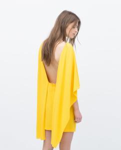 b0cecca240 NOWA sukienka ZARA peleryna żółta S 36 - 5611879704 - oficjalne ...