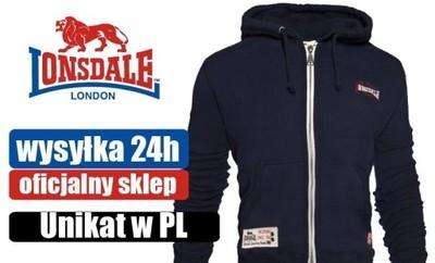 Bluza z kapturem LONSDALE 340 grm 80% bawełna XXL