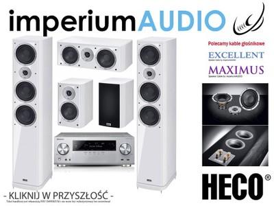 HECO MUSIC STYLE 900 BIAŁE+PIONEER VSX-930 SET 5.0
