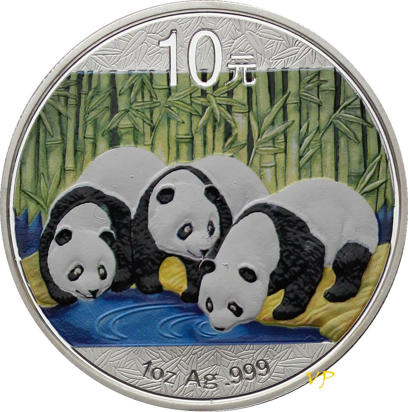 Chiny, 10 Yuan Panda 2013 r.