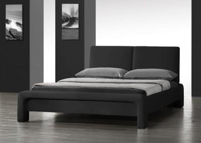 łóżko Do Sypialni 180x200 Cm Czarne Stelaż