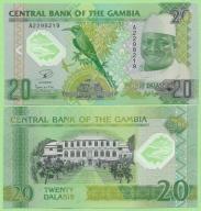 Gambia , 20 Dalasis 2015 polimer , stan I (UNC)