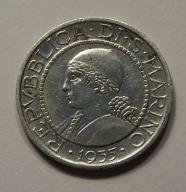 5 Lirów San Marino 1935 srebro