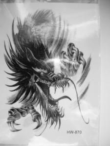 Tatuaż Zmywalny Tattoo Tatuaże Smok Smoki Wzory