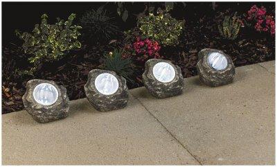 Lampki Solarne Ogrodowe Kamienie 2 Sztuki