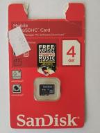 Karta pamięci MicroSD 4GB Sandisk class 4