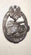 odznaka Niemcy III rzesza pancerna czolgista WH 50