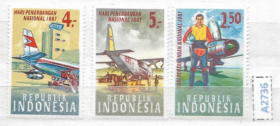 Indonezja zestaw znaczków czystych ** Samoloty