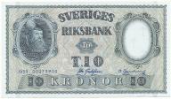 3955. Szwecja 10 kronor 1959 st.2/2+
