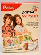 Pastele do tkanin Pentel, zestaw z piórnikiem