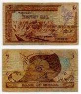IZRAEL 1955 5 LIROT RZADKI LAMINOWANY