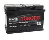 AKUMULATOR TUBORG BLACKCALCIUM 74AH 600A P+