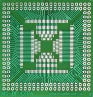 [LISPOL] Adapter uniwersalny DIP - QFP32-QFP128