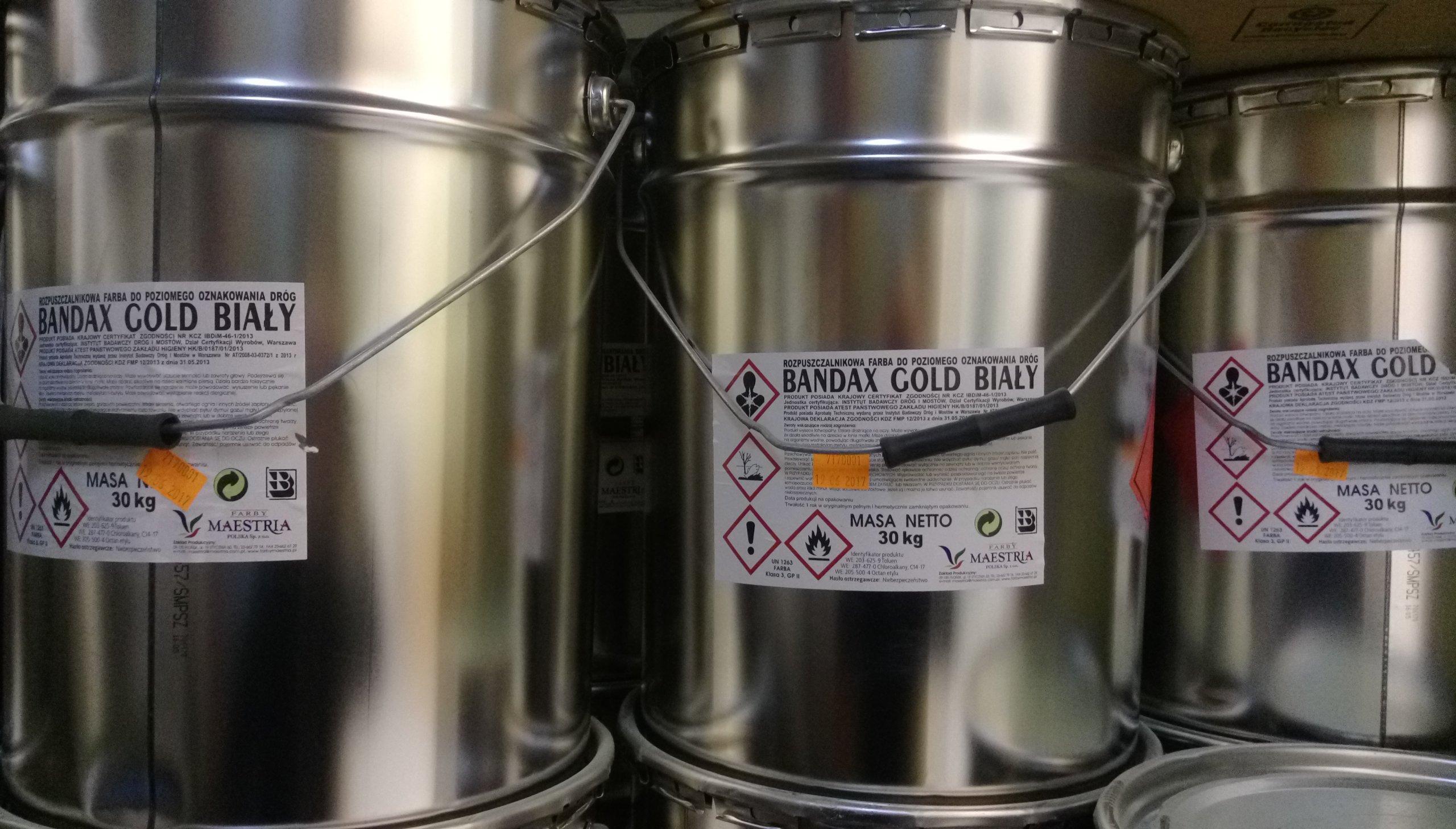 Promocja Farba Drogowa Bandax Gold Bialy 7037257656