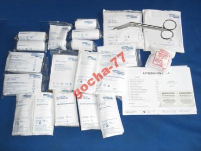 Wyposażenie/ wkład do apteczki wg normy DIN 13164+