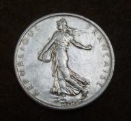 5 franków 1960 SREBRO 12g FRANCJA ! piekna ! BCM