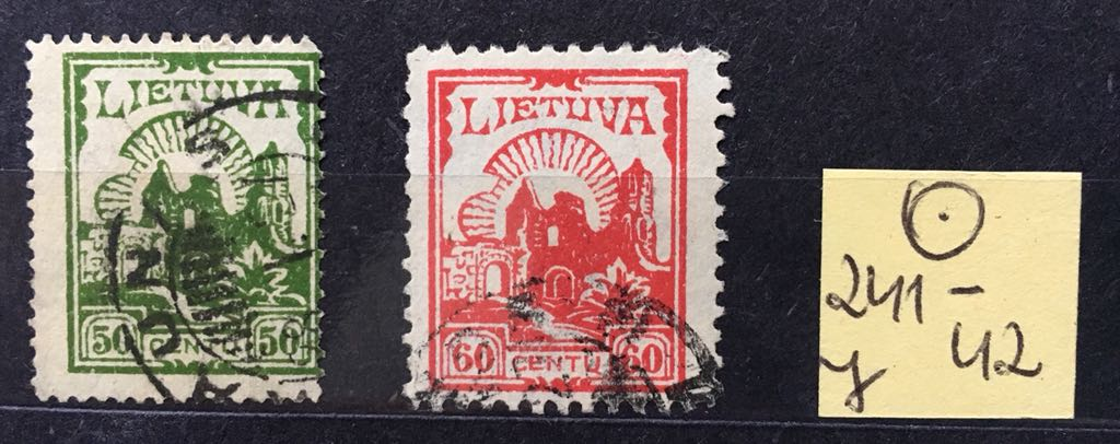 (TT) Litwa Lietuva 241 42 kasowane