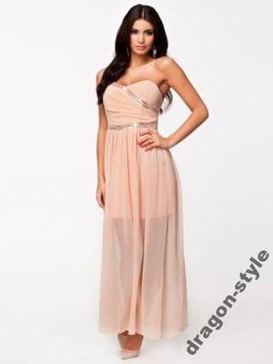 bf07d46bb12a6 ASOS obłędna długa maxi sukienka wedding ślub 38 M - 6775728398 ...