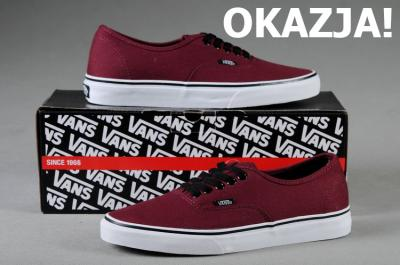 vans authentic bordowe 40