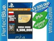 GTA V ONLINE PS4 $3500000 WHALE SHARK CARD AUTOMAT