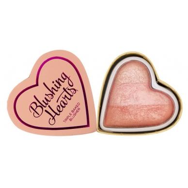 Róż serduszko Makeup Revolution peachy pink kisses