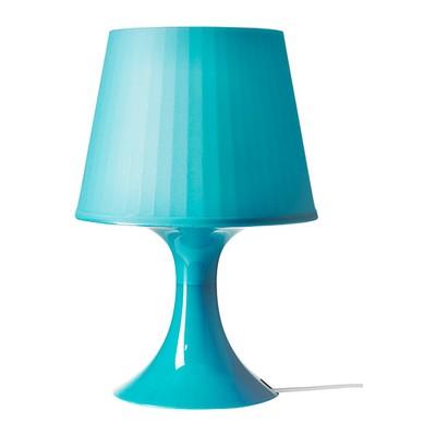 Ogromny IKEA lampka nocna lampa LAMPAN stołowa turkusowa - 6769800088 WI96