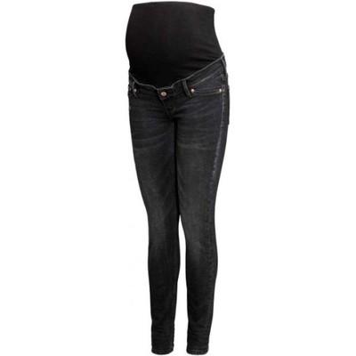 bfb6ea9f22e303 H&M MAMA spodnie ciążowe jeansy czarne 38 M - 6754396029 - oficjalne ...