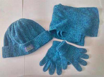 Zestaw  czapka rękawiczki szalik dziewczynka 3+