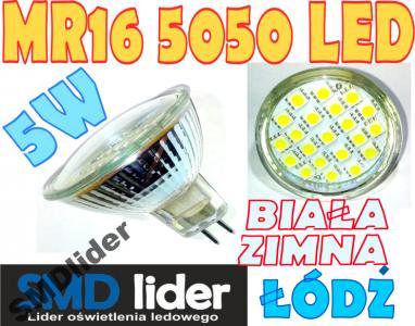 żarówka Mr16 5w 24 Smd Led 5050 230v Biała Zimna
