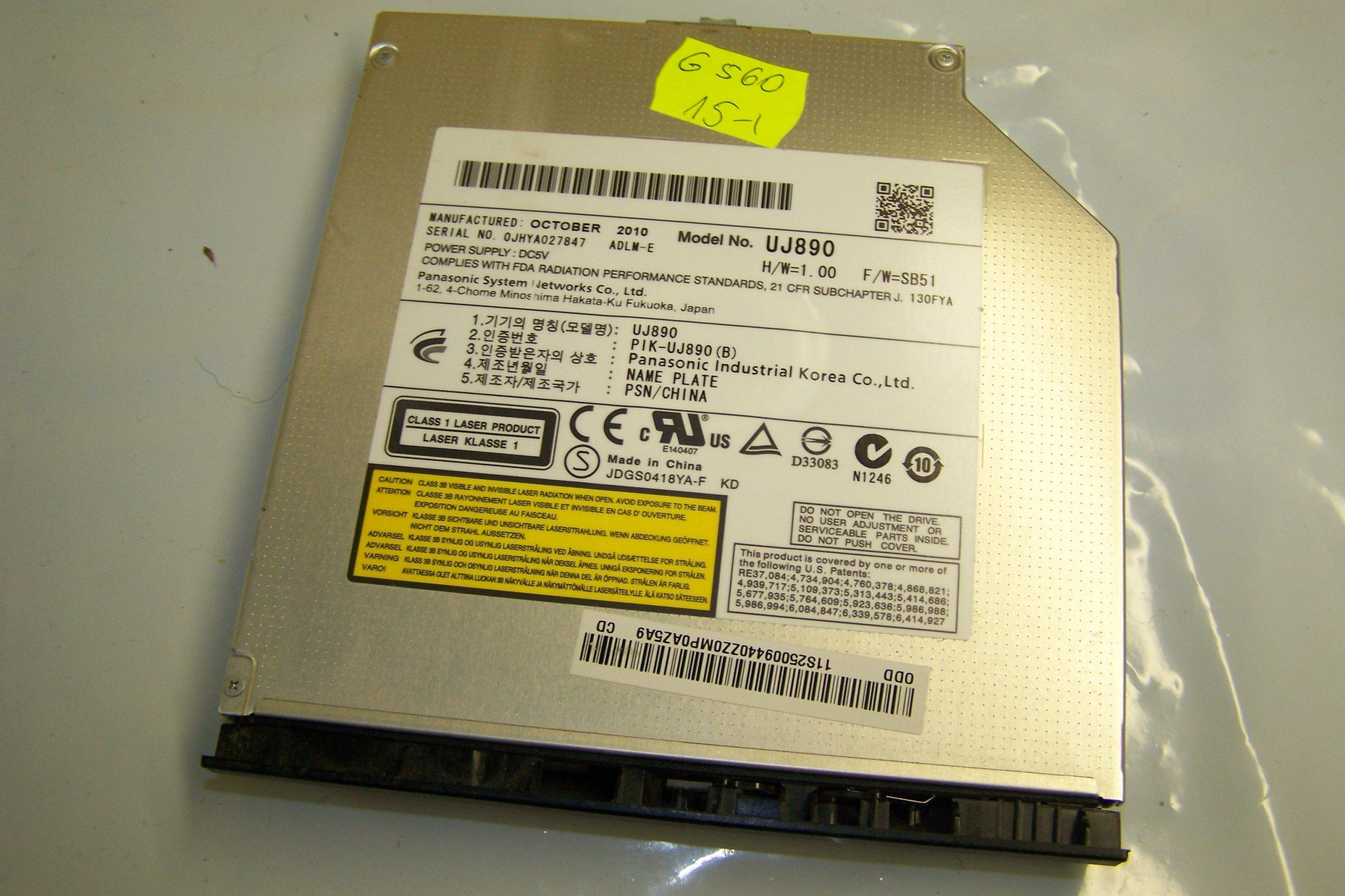Nagrywarka UJ890 DVD do Lenovo G560 G505 G500 G510