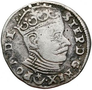 1114. Batory, Trojak, Wilno 1582, st.4