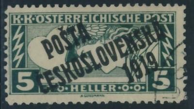 Austria nadruk Poczta Czechosłowacji 1919