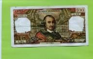 FRANCJA 100 FRANKOW 1968