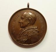 Watykan. Papież Leon XIII. Śred. 39 mm. Ładny(556)