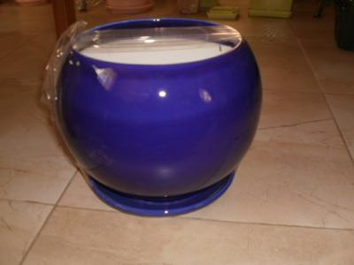 Doniczka Ceramiczna Kula 16 Granatowy Podstawka