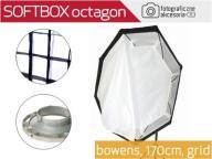 SOFTBOX octagon BOWENS170cm z gridem Wwa