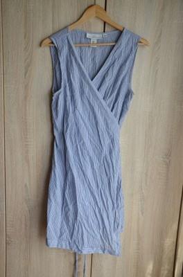 sukienka pareo narzutka na plażę kostium paski 44